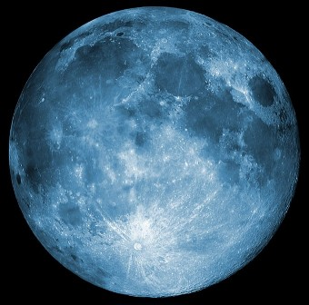 computer enhanced blue moon