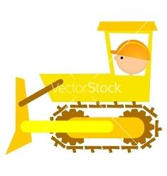 Illustration of bulldozer driver